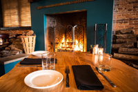 Fireside dining at Sybaris by Dennis Rivera