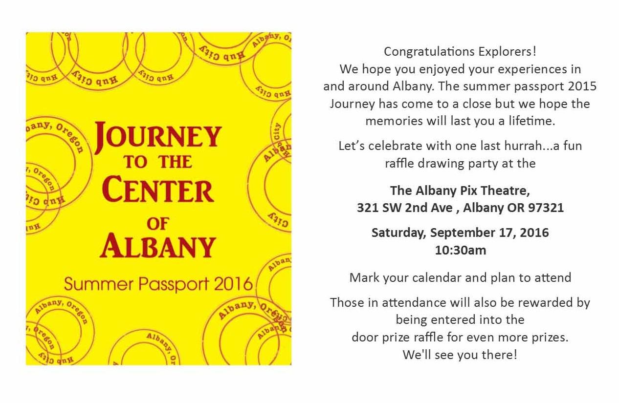 Raffle Drawing invitation 2016 – Albany Visitors Association