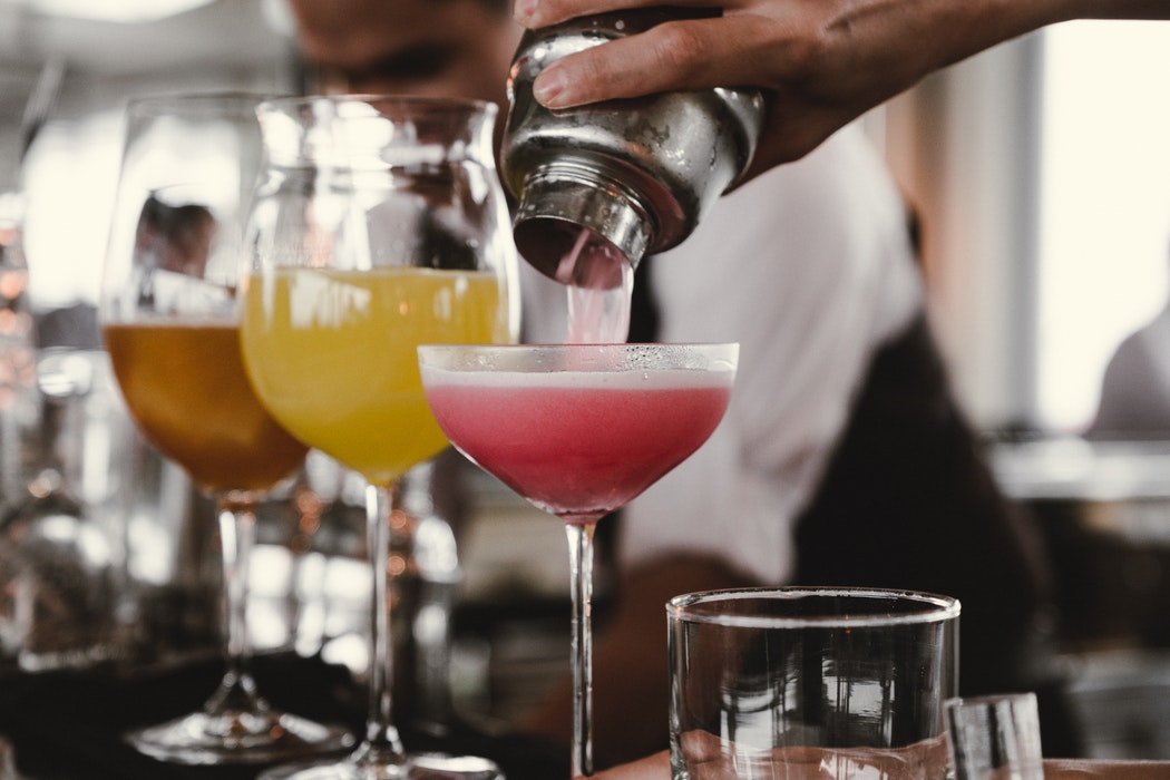 Photo of three cocktails.