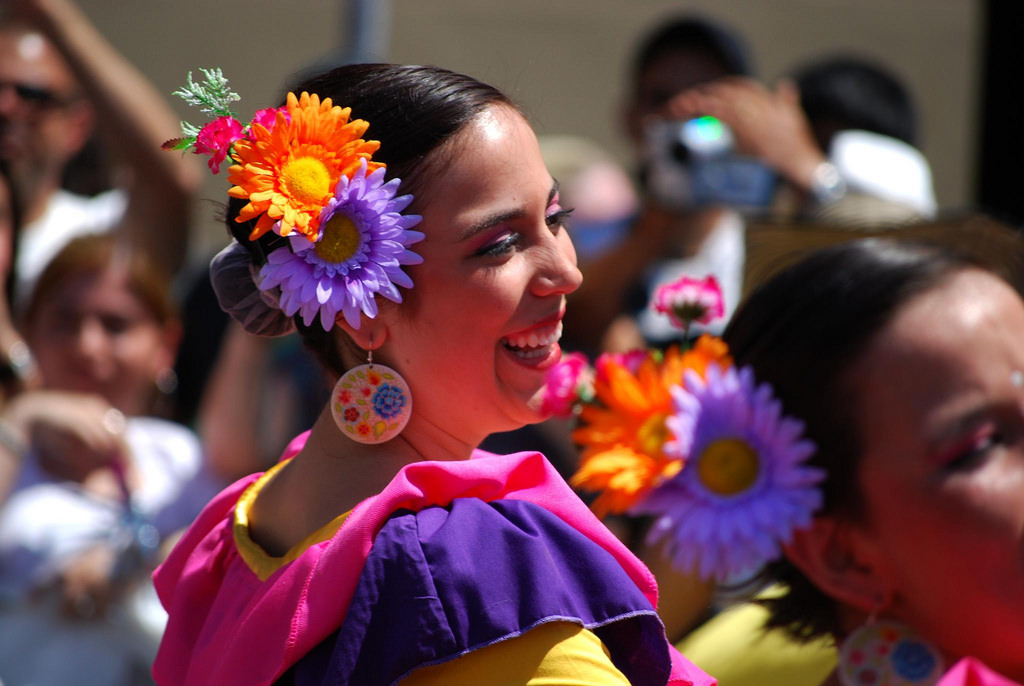 Photo of woman at Latino Festival.