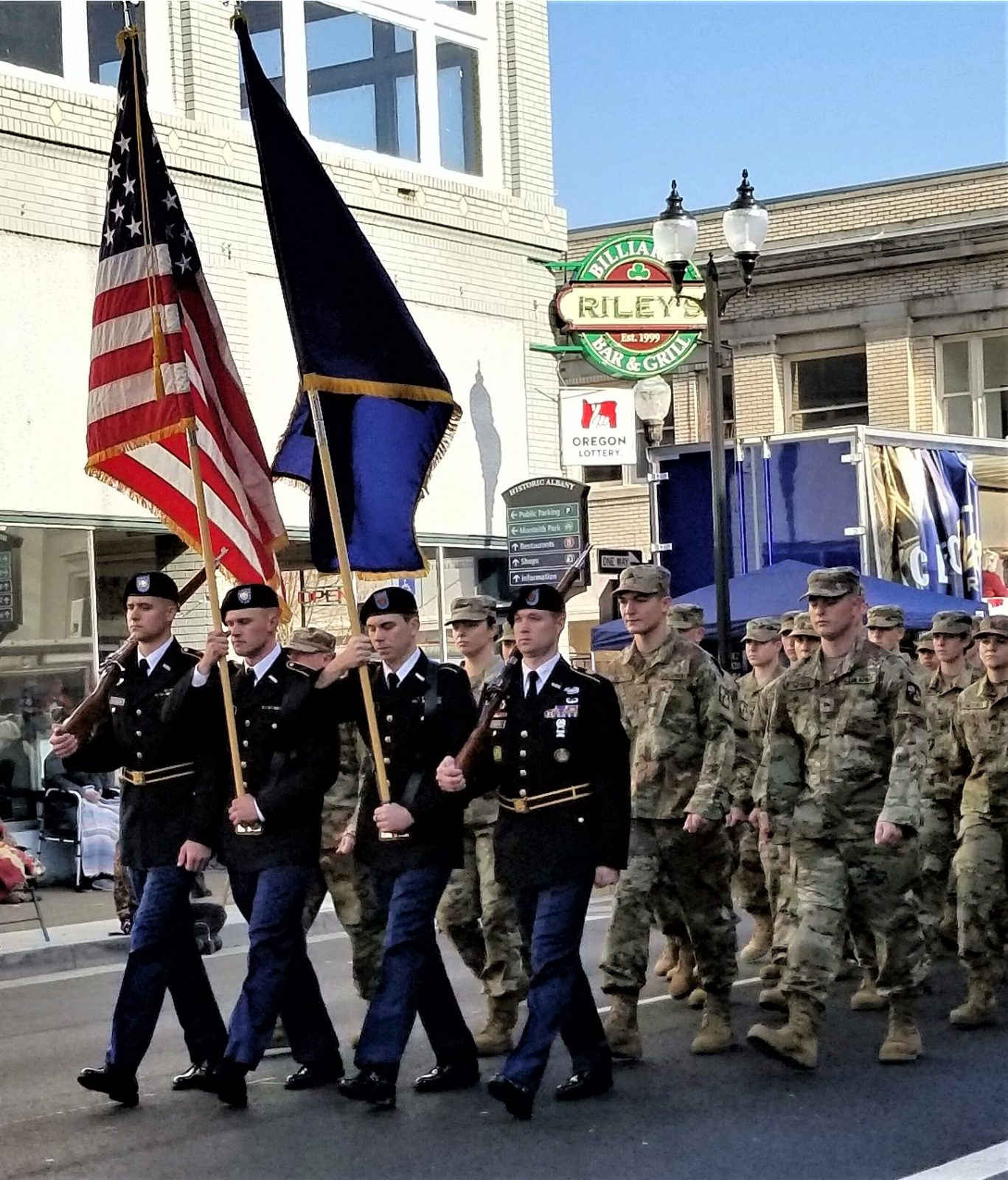 Honor Guard in Veterans Day Parade.