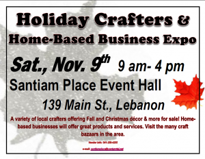 Holiday Crafters Market & Home-Based Business Expo @ Santiam Place Event Hall | Lebanon | Oregon | United States