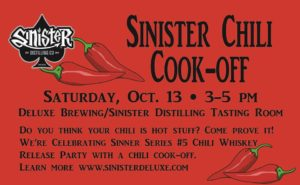 Chili Cook-Off at Sinister Distilling @ Deluxe Brewing and Sinister Distilling | Albany | Oregon | United States