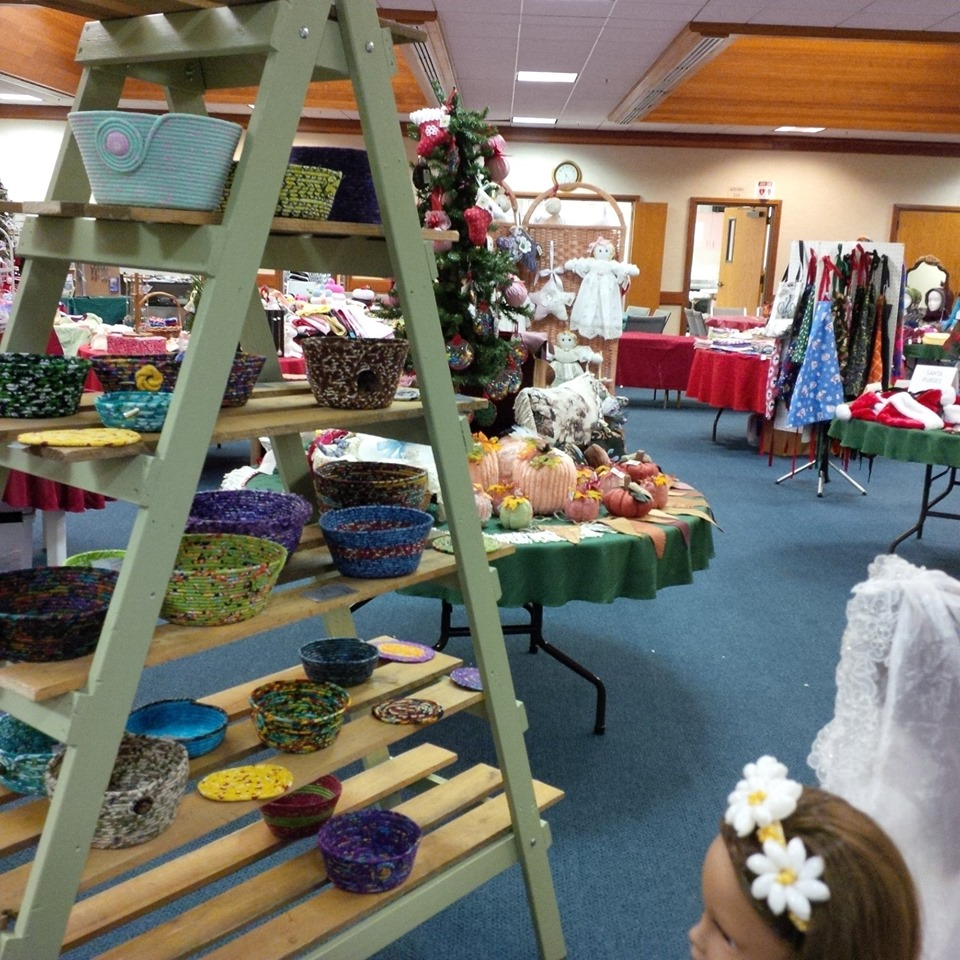 Photo of items for sale at St. Mary's Arts & Crafts.