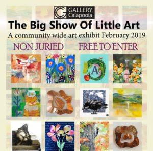 2nd Annual Big Show of Little Art  @ Gallery Calapooia | Albany | Oregon | United States