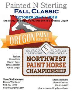 Oregon Paint Horse Fall Classic Show @ Linn County Expo Center | Albany | Oregon | United States