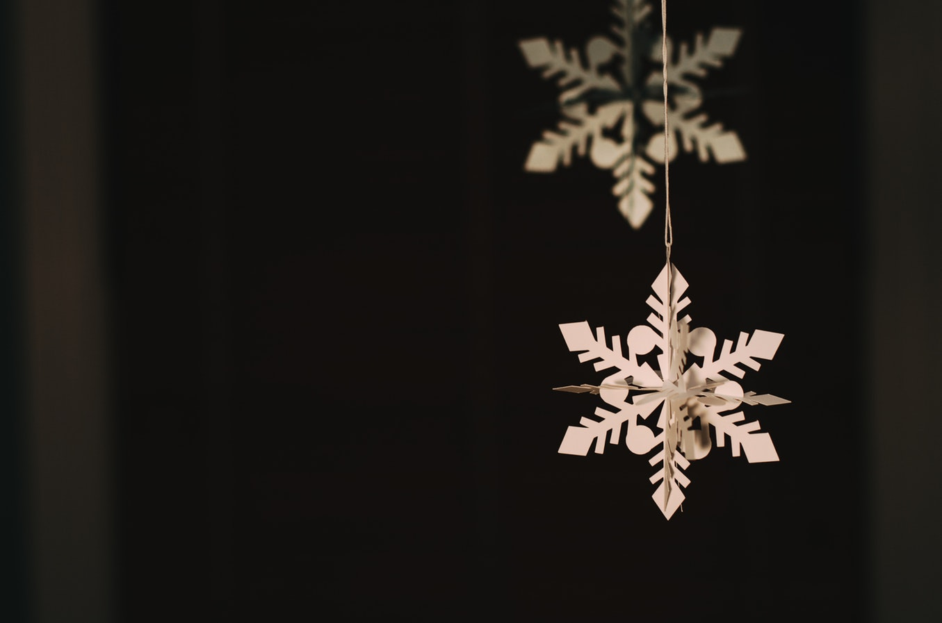 Photo of snowflake ornament.