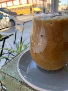 Photo of iced coffee at Margin Coffee in Albany, Oregon