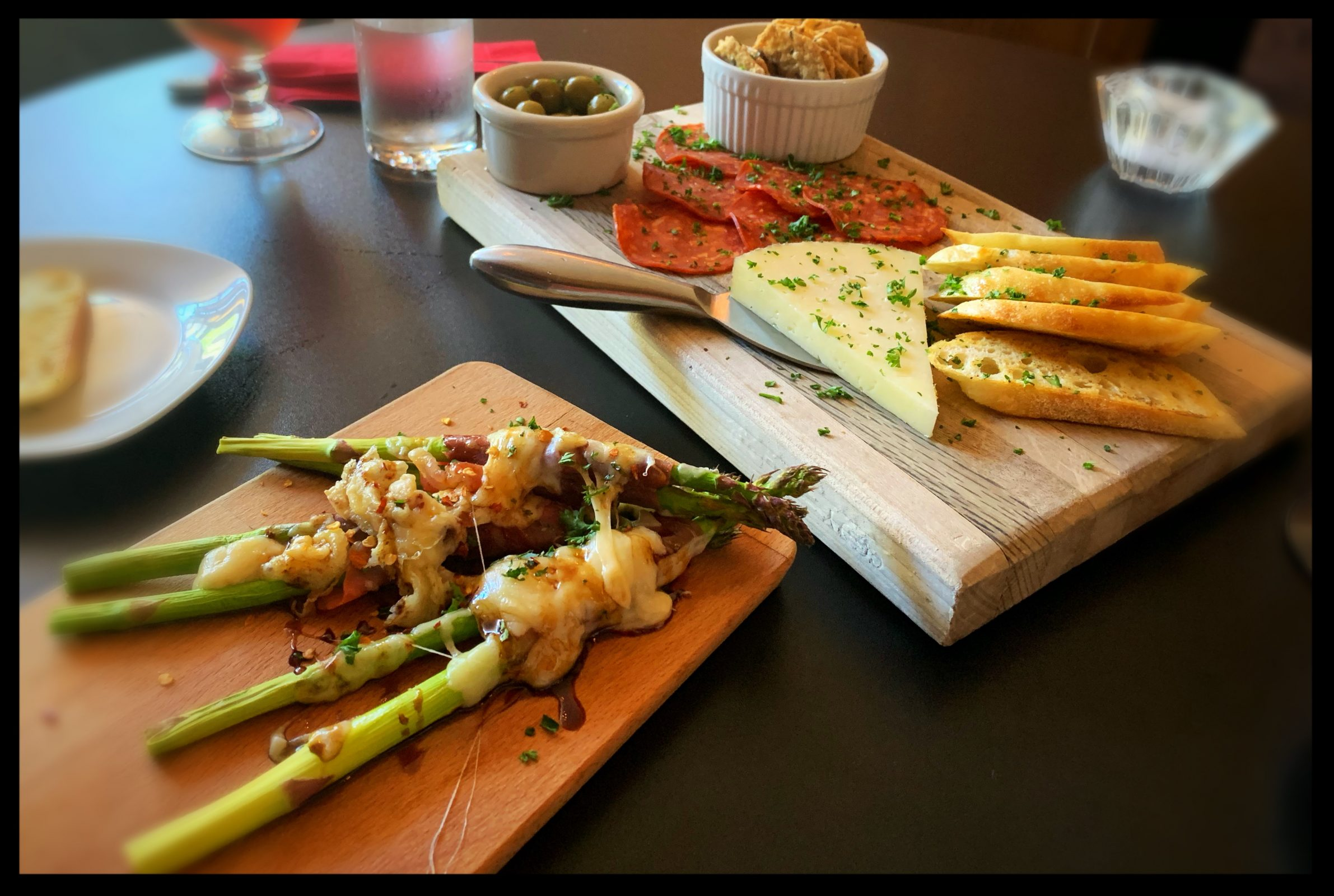 Photo of small appetizer and cheese plates at a local Albany restaurant, Sweet Red Bistro