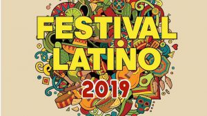 Graphic Logo for the 2019 Festival Latino in Albany, Oregon