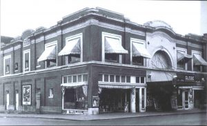A antique historic photo showing the Venetian Theater circa 1900, in downtown Albany, Oregon