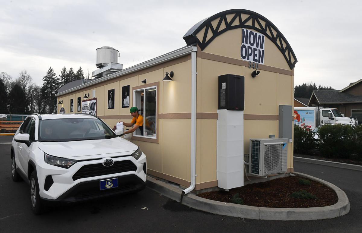 Photo of Major League Burgers drive-in kiosk