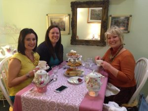 Photo of women enjoying high tea service at the IVY Tearoom in Albany, Oregon