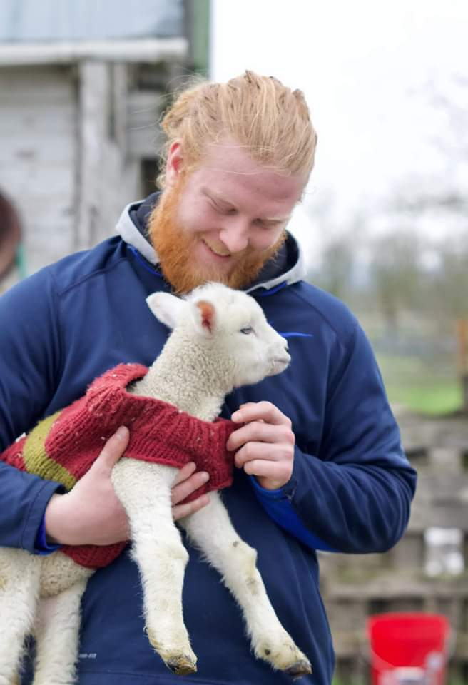 Photo of person holding lamb
