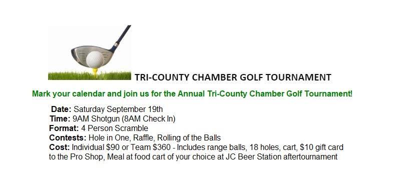 Event information for Golf Tournament, Monroe, Oregon