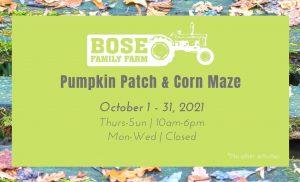 Bose Family Farm Pumpkin Patch & Corn Maze @ Bose Family Farm   Albany   Oregon   United States