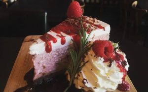 Photo of dessert cake from Sweet Red Bistro, Albany OR