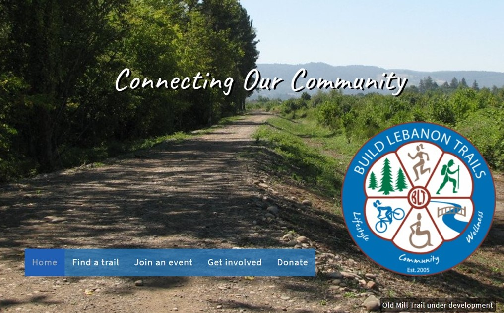 photo of trail with BLT logo