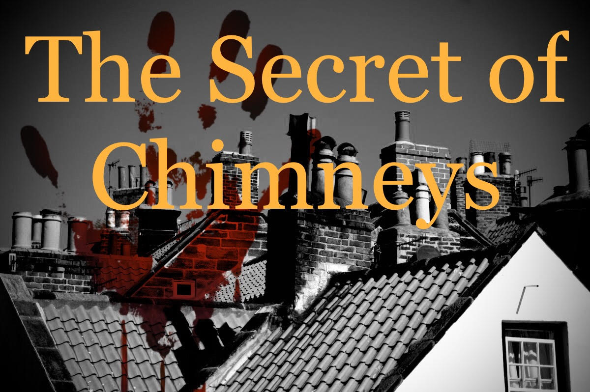 graphic of roof tops and chimneys with event information