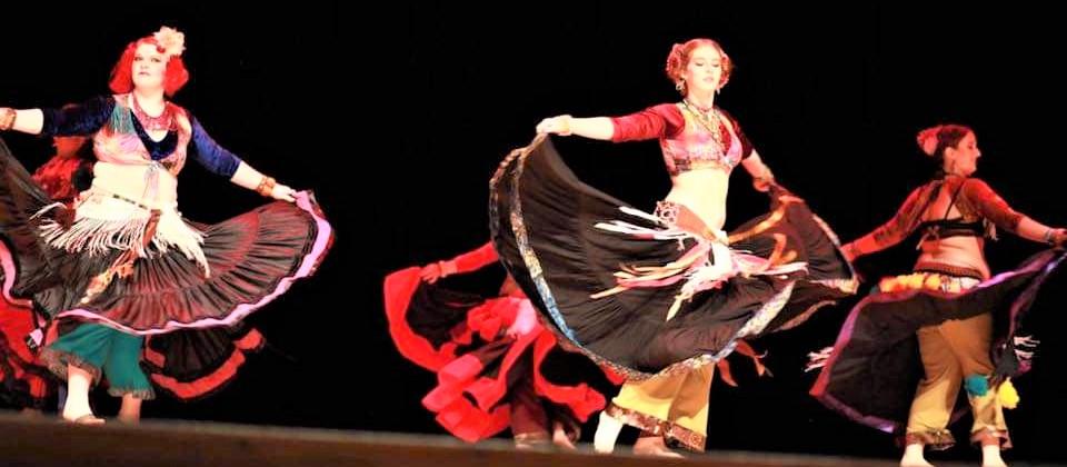 Photo of women belly dancing