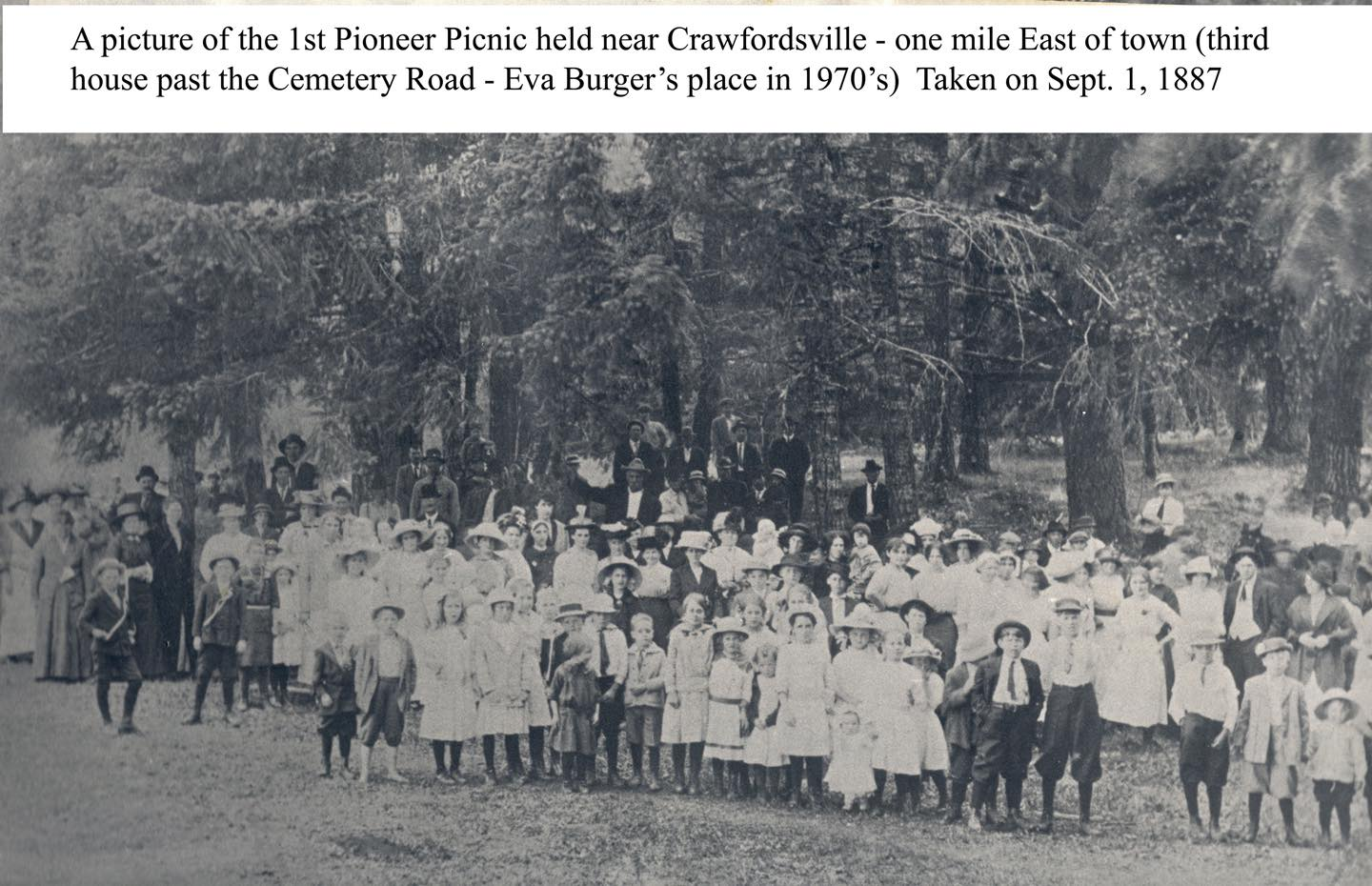 photo of first Linn county Oregon Pioneer Picnic