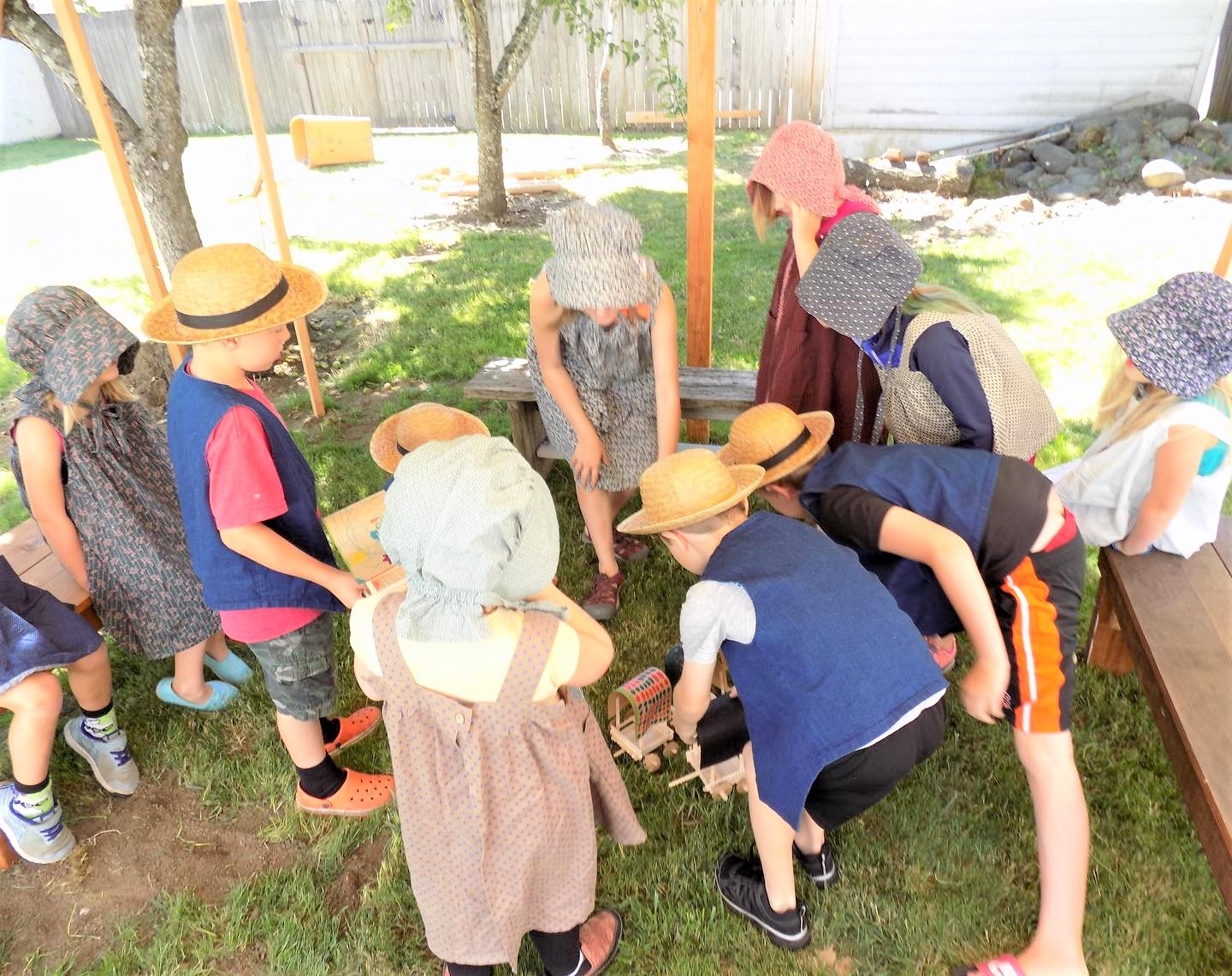 Photo of kids in costume playing