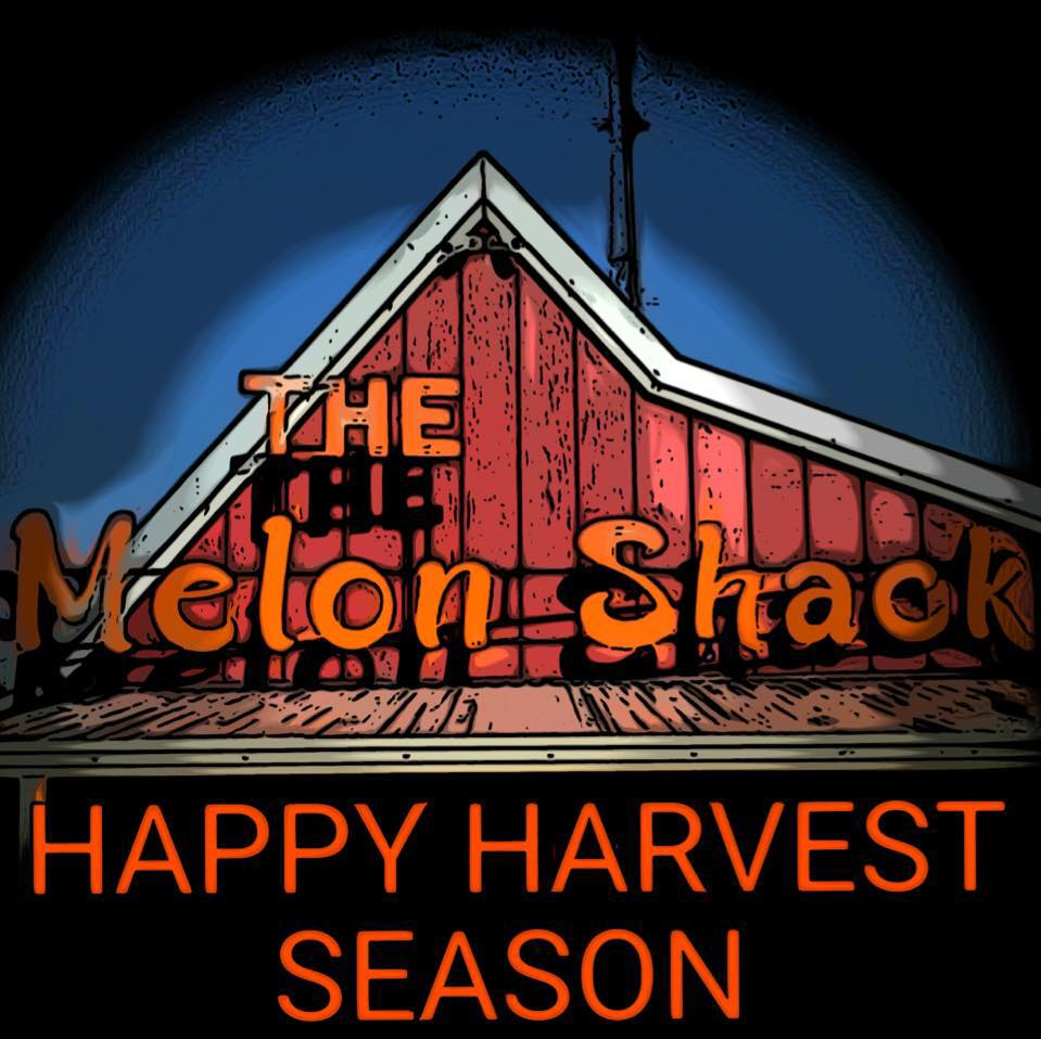 Melon Shack sign with Happy Harvest Season
