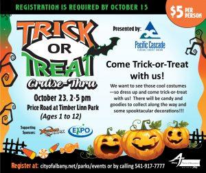 Trick or Treat Cruise-Thru REGISTRATION @ Timber-Linn Memorial Park   Albany   Oregon   United States