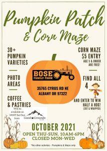 Bose Family Farm Pumpkin Patch & Corn Maze @ Bose Family Farm | Albany | Oregon | United States